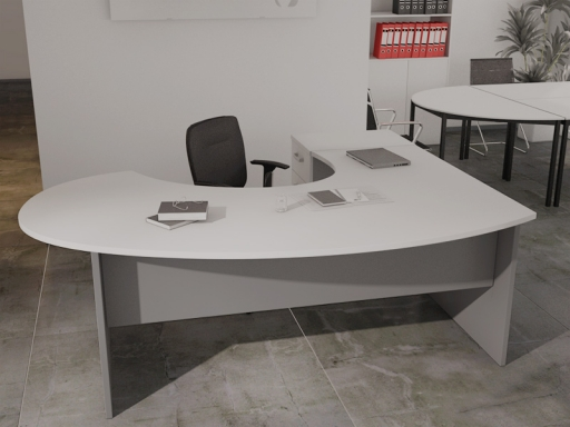 bureau avec retour pas cher
