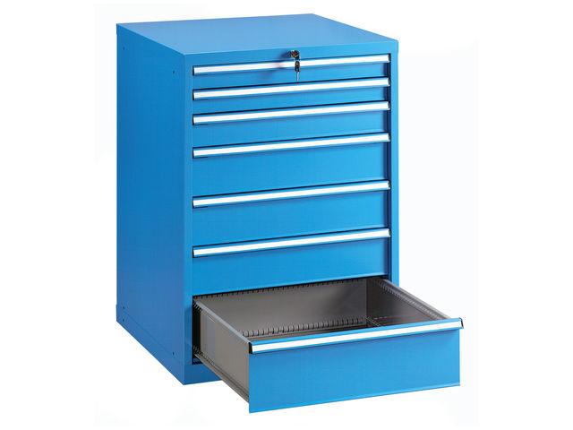 armoire 7 tiroirs atelier metallique bleu