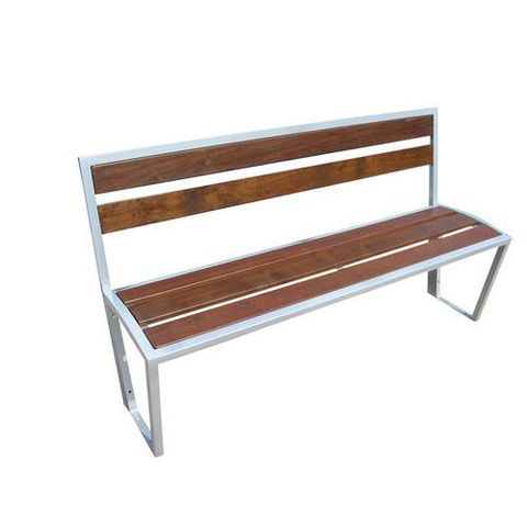 banc ou banquette bois et metal 150 cm
