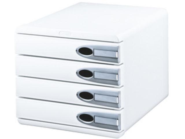 bloc de classement leitz allura 4 tiroirs blanc blanc format a4