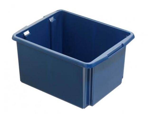 caisse de rangement garage bleu 32 litres