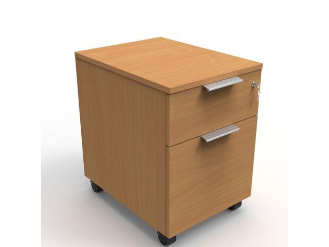 caisson de bureau en bois 2 tiroirs
