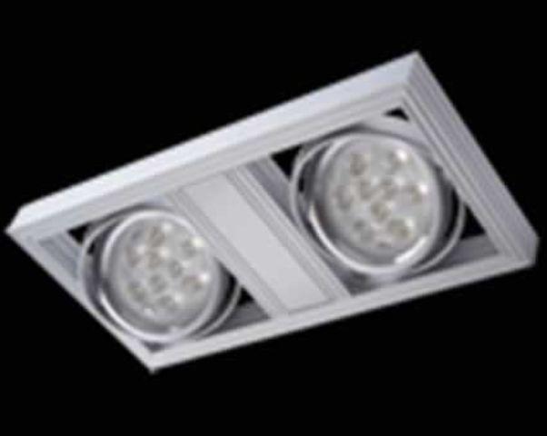 spot led double a uspendre 36w rectangulaire orientable blanc chaud