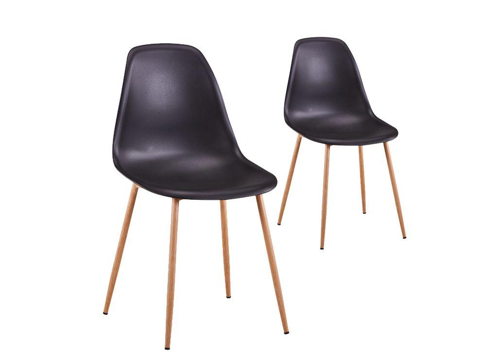 lot de deux chaises scandinaves eva