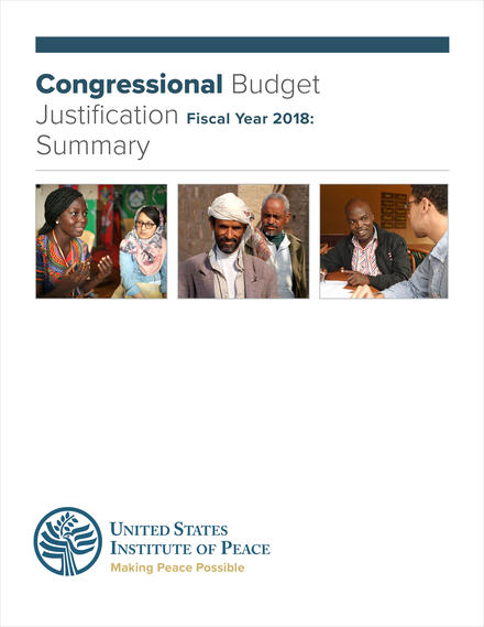 FY 2019 Budget Request Summary  United States Institute