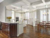 Remodeled Coppell Kitchen Design Features Coffered Ceilings