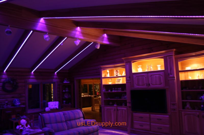 led light strips living room best wall colors for livingroom with rgb flexible set on pink purple color