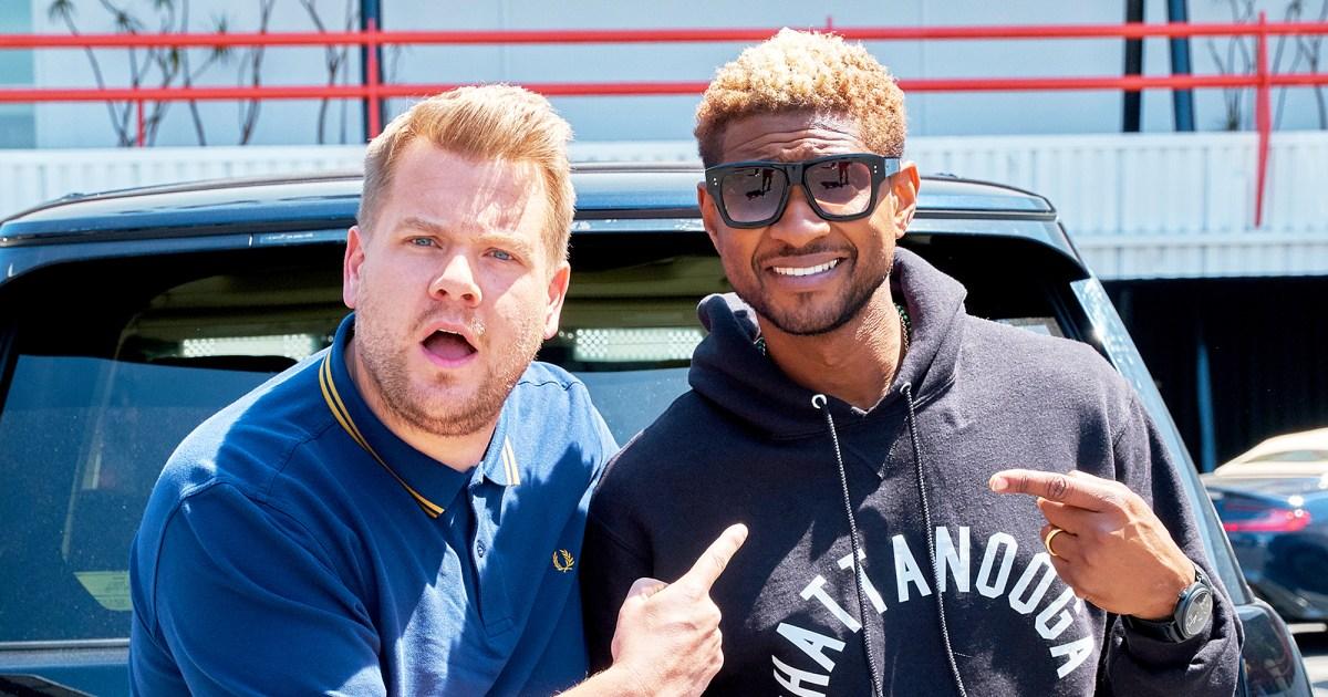 Usher Teaches James Corden Dance Moves During Carpool