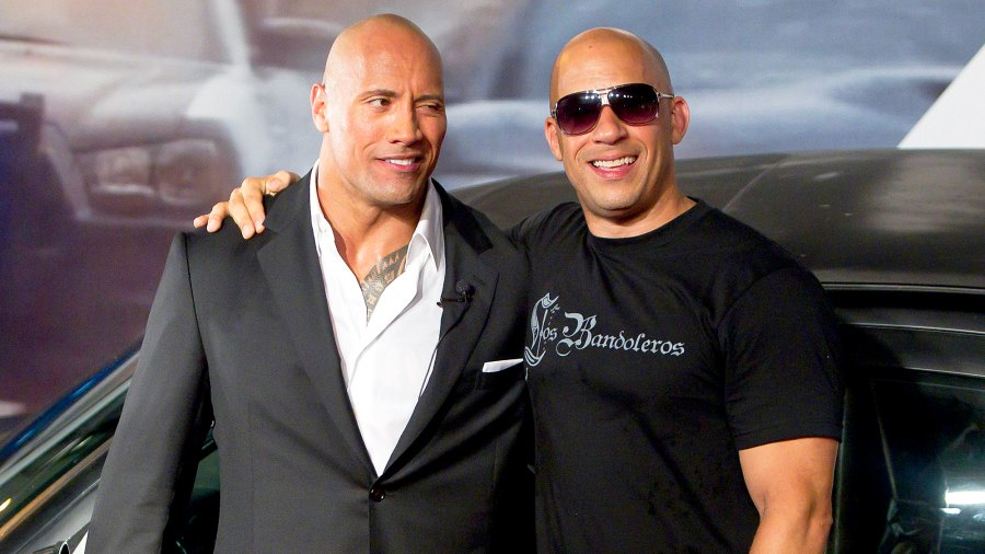 Dwayne 'The Rock' Johnson and Vin Diesel