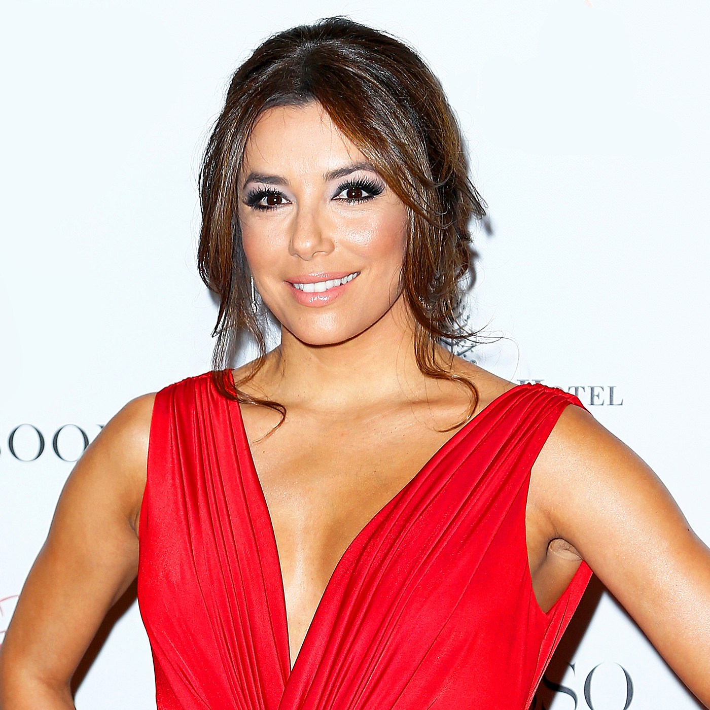 Eva Longoria attends the Global Gift Gala at Four Seasons Hotel George V in Paris, France.
