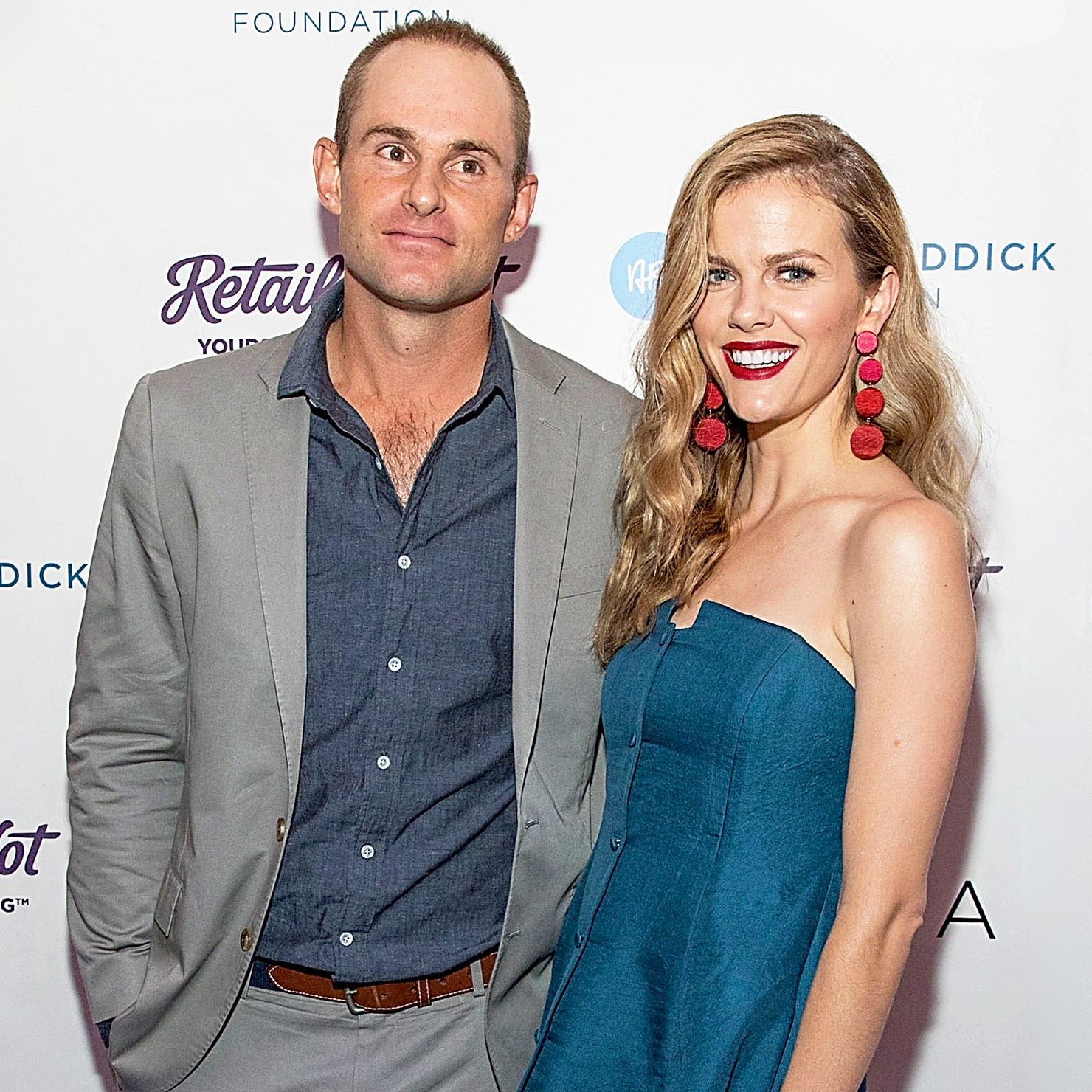Andy Roddick and Brooklyn Decker attend the 11th Annual Andy Roddick Foundation Gala at ACL Live on November 18, 2016 in Austin, Texas.