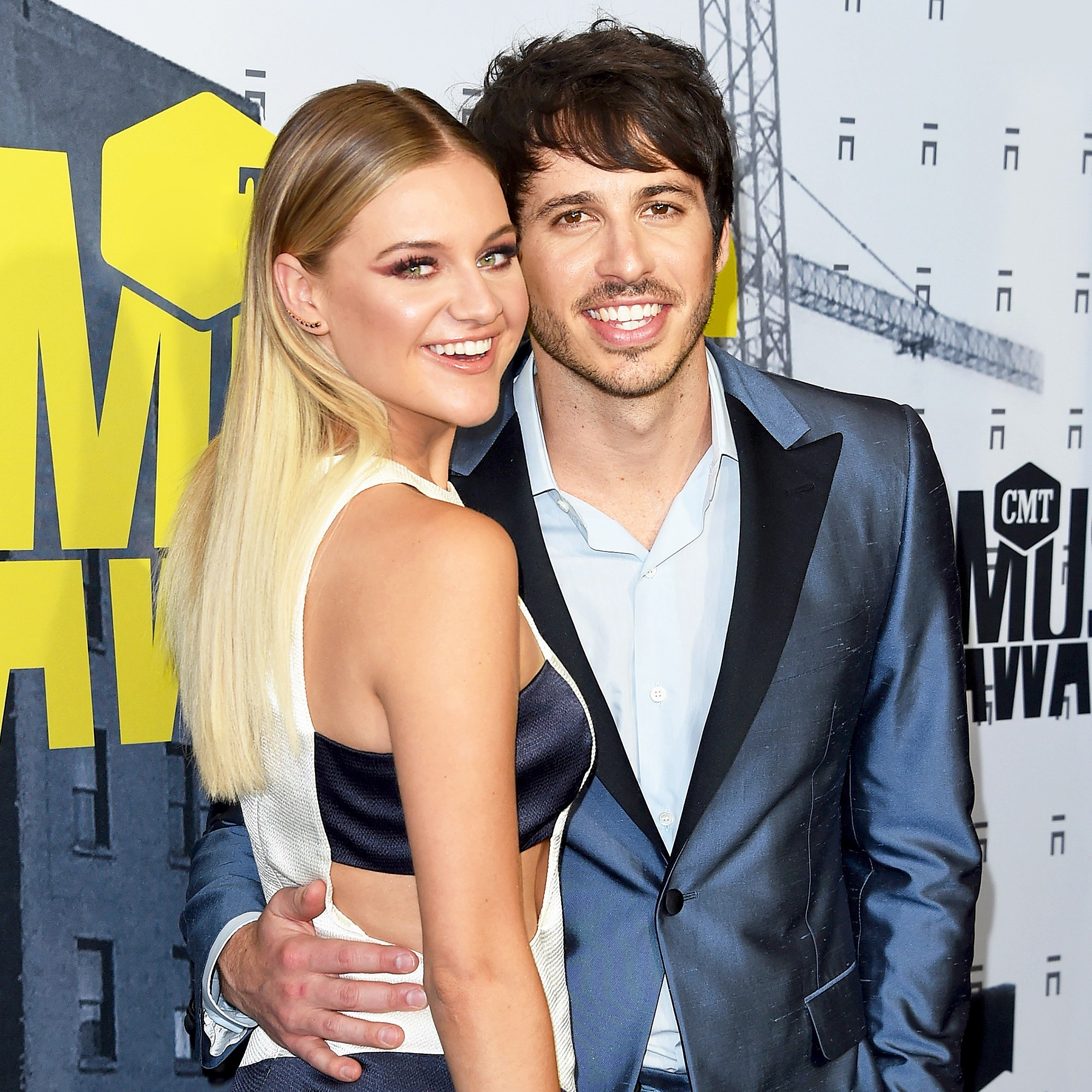 Kelsea Ballerini and Morgan Evans attend the 2017 CMT Music Awards at the Music City Center on June 7, 2017 in Nashville, Tennessee.