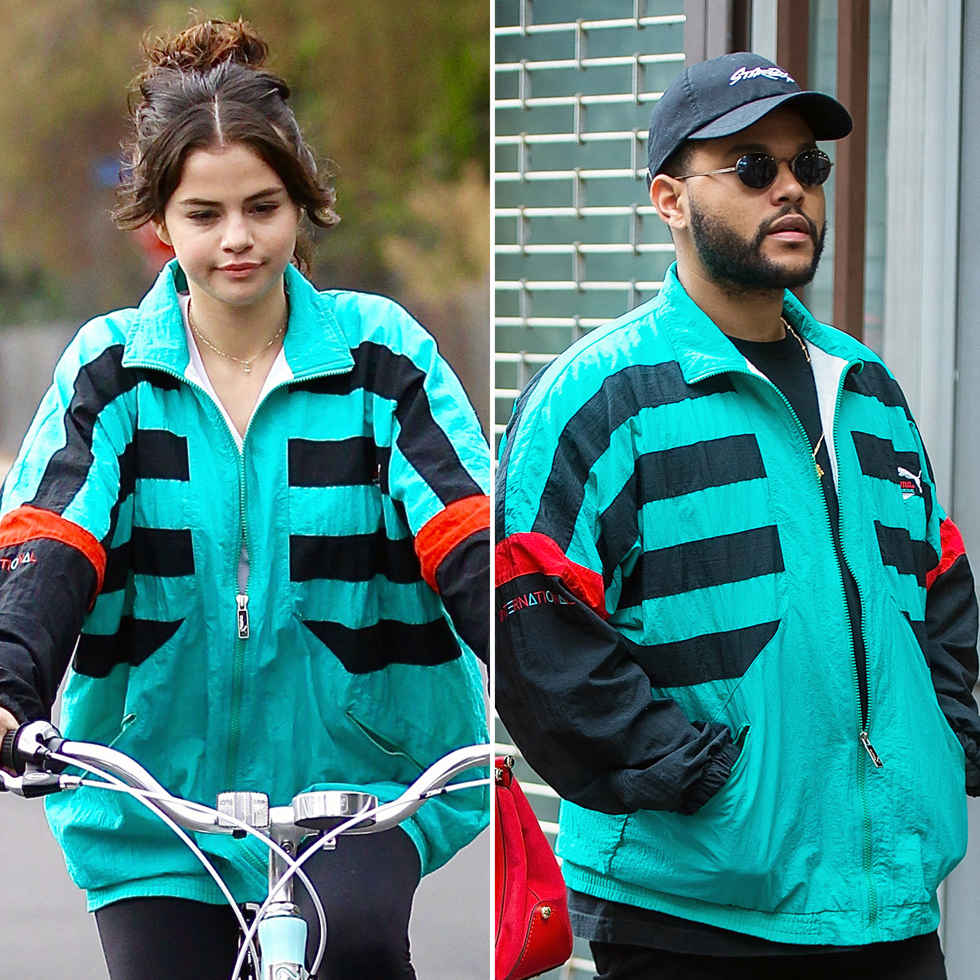 Selena Gomez The Weeknd jacket