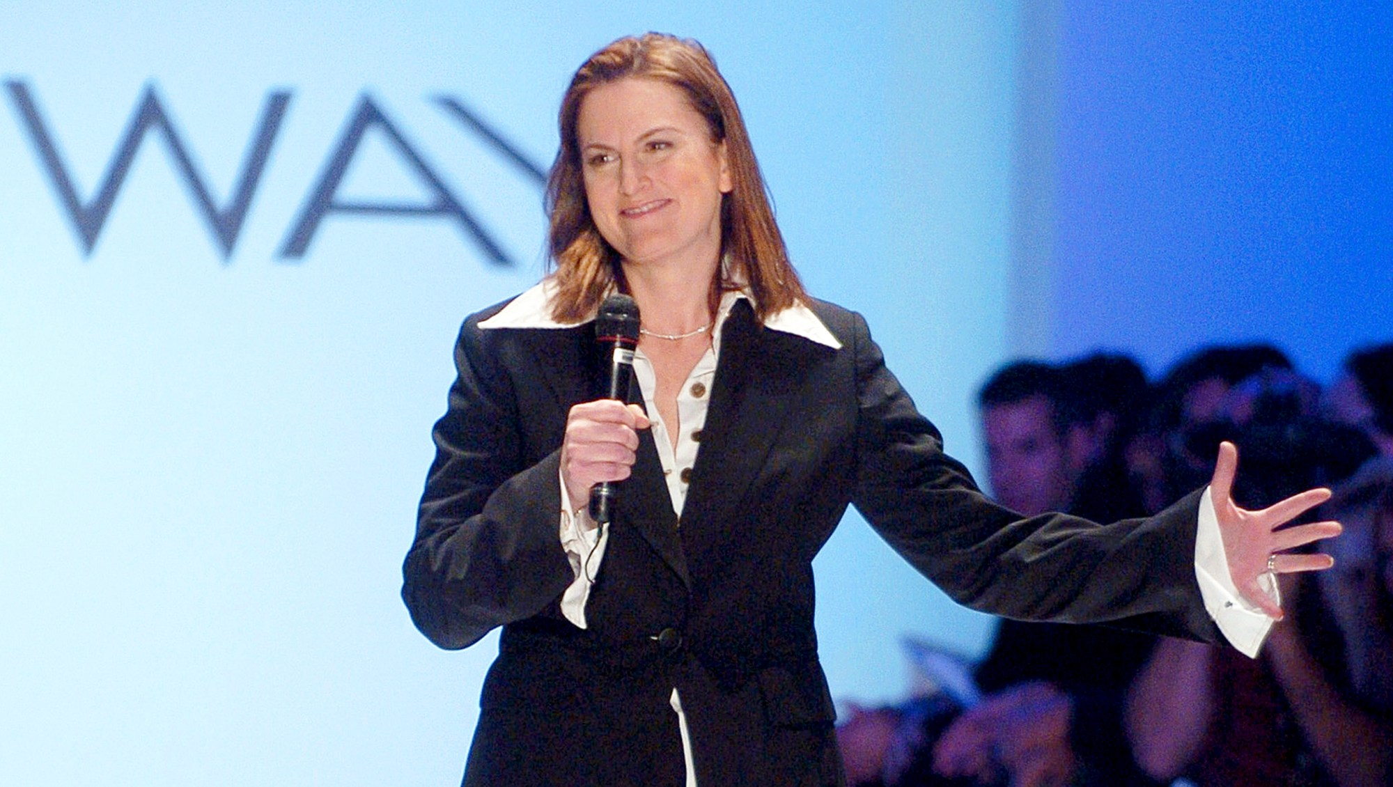 Wendy Pepper during Olympus Fashion Week Fall 2005 at The Plaza, Bryant Park in New York City.