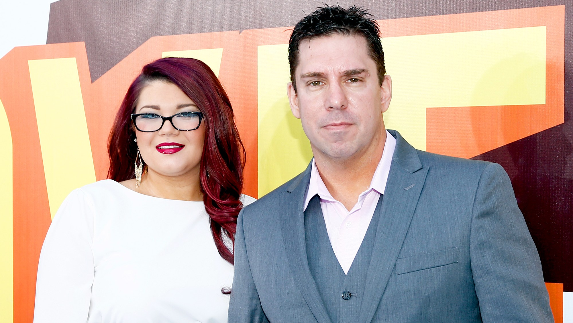 Amber Portwood and Matt Baier attend The 2015 MTV Movie Awards at Nokia Theatre L.A. Live in Los Angeles, California.