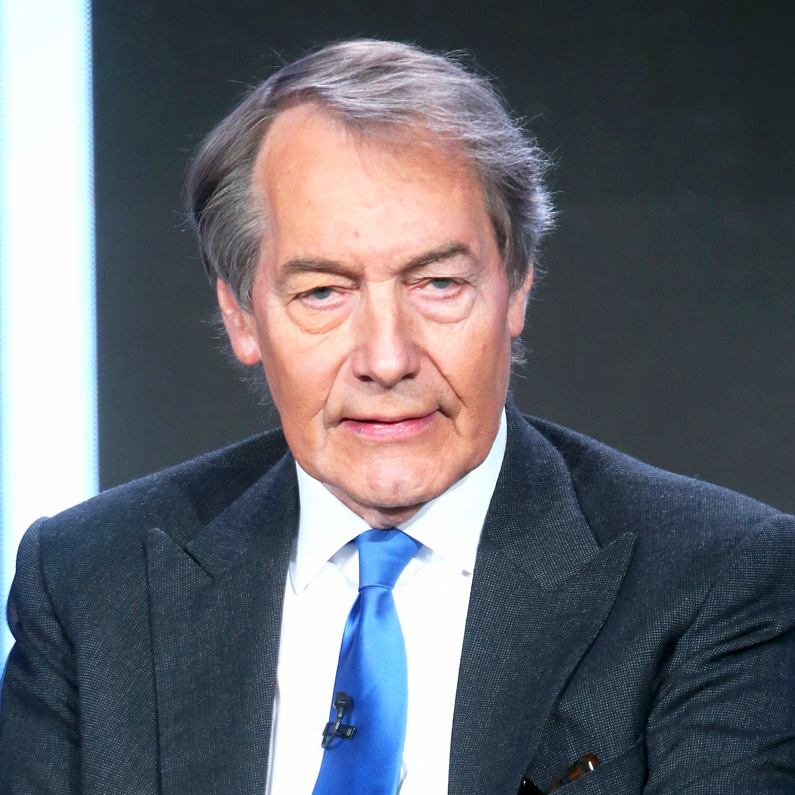 Charlie Rose speaks onstage during the 'CBS This Morning' panel discussion at the 2015 Winter TCA Tour in Pasadena, California.