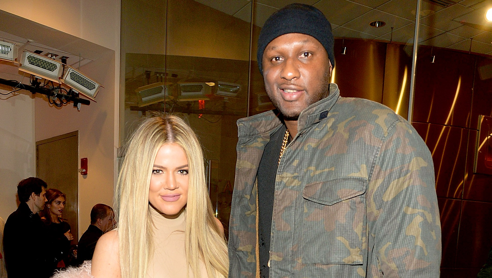 Khloe Kardashian and Lamar Odom attend Kanye West Yeezy Season 3 at Madison Square Garden on February 11, 2016 in New York City.