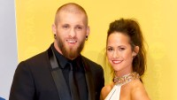 Brantley Gilbert and wife Amber Cochran attend the 50th annual CMA Awards at the Bridgestone Arena in Nashville, Tennessee.