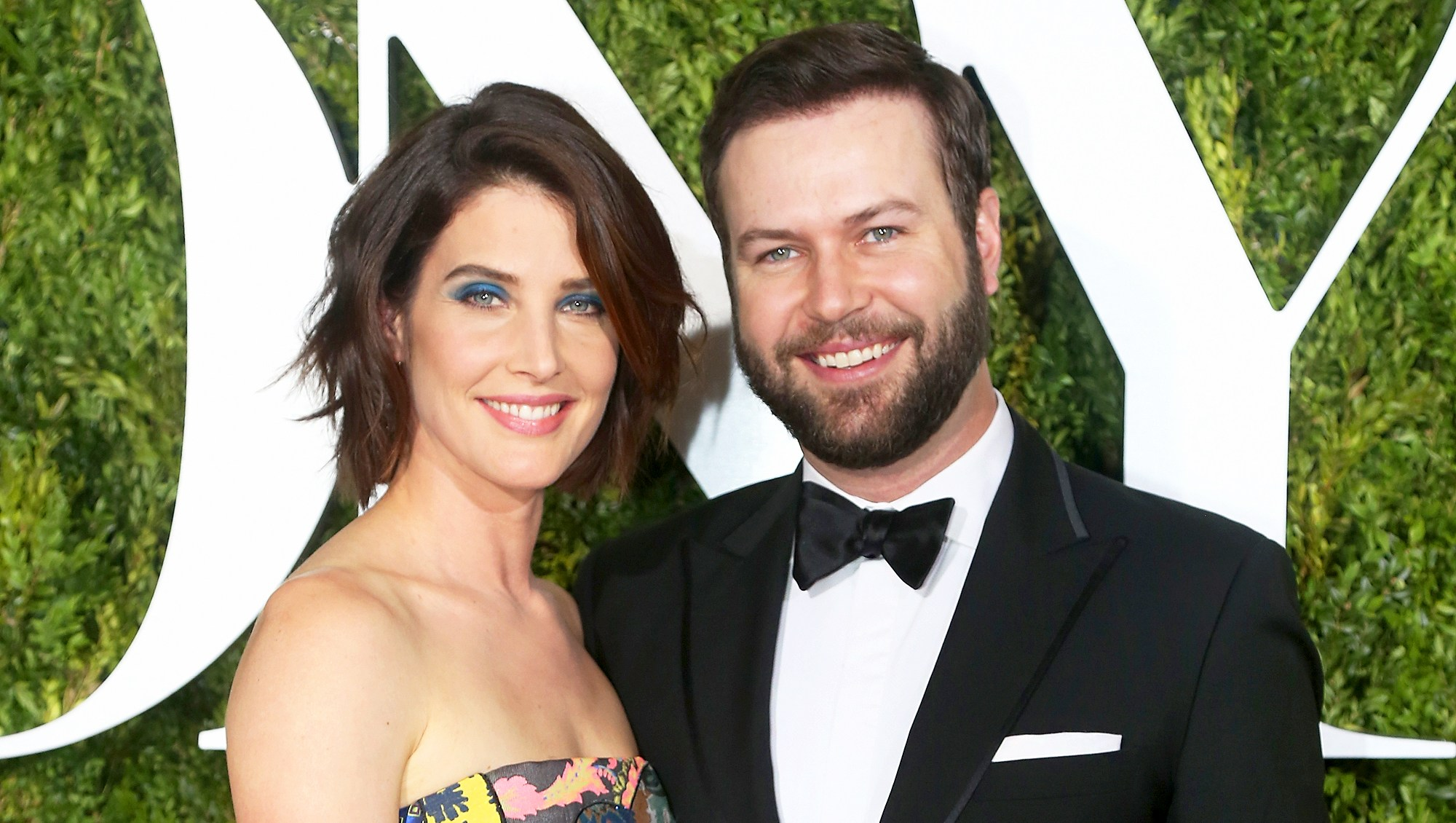 Cobie Smulders and Taran Killam attend the 71st Annual Tony Awards at Radio City Music Hall on June 11, 2017 in New York City.