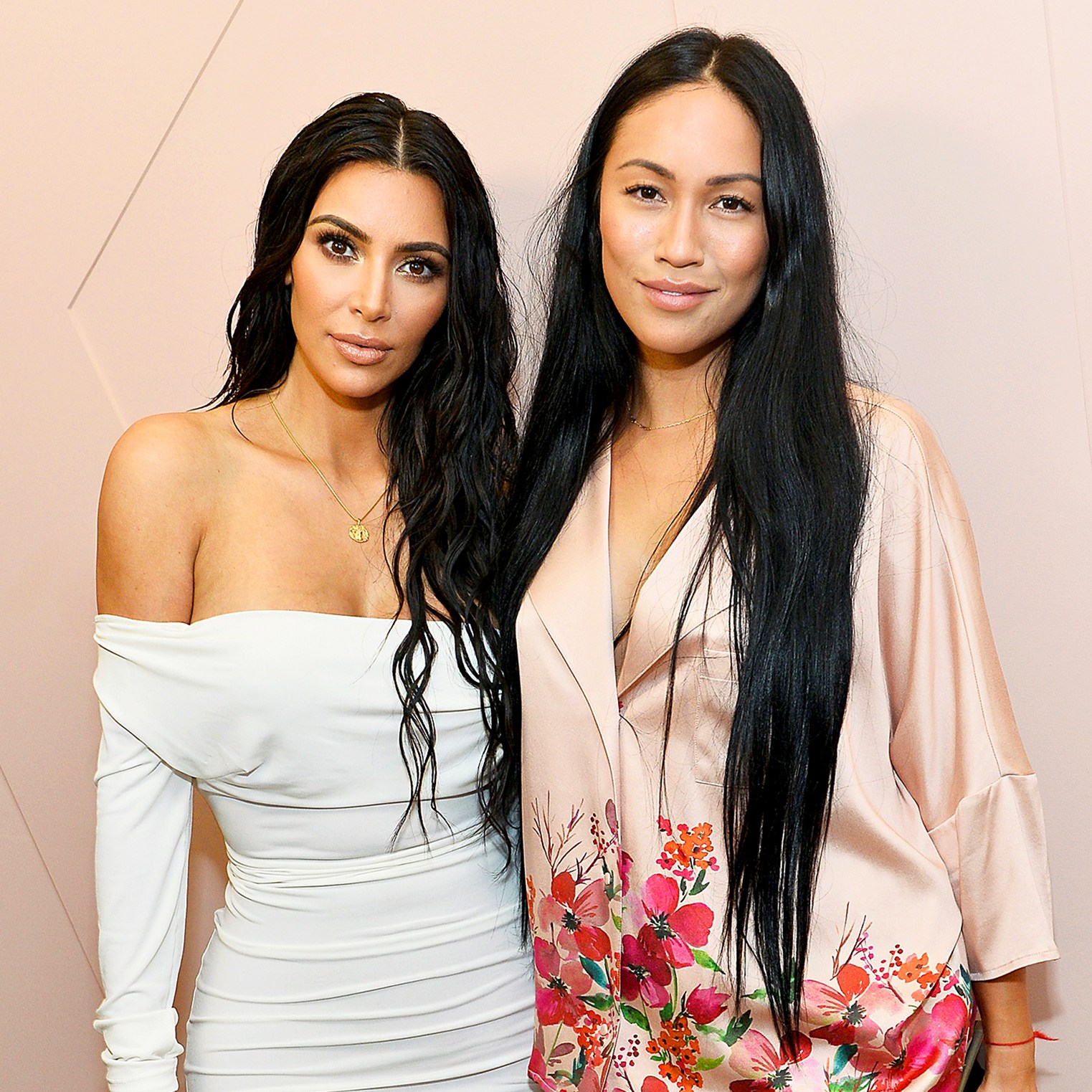 Kim Kardashian and Stephanie Sheppard celebrate The Launch Of KKW Beauty on June 20, 2017 in Los Angeles, California.
