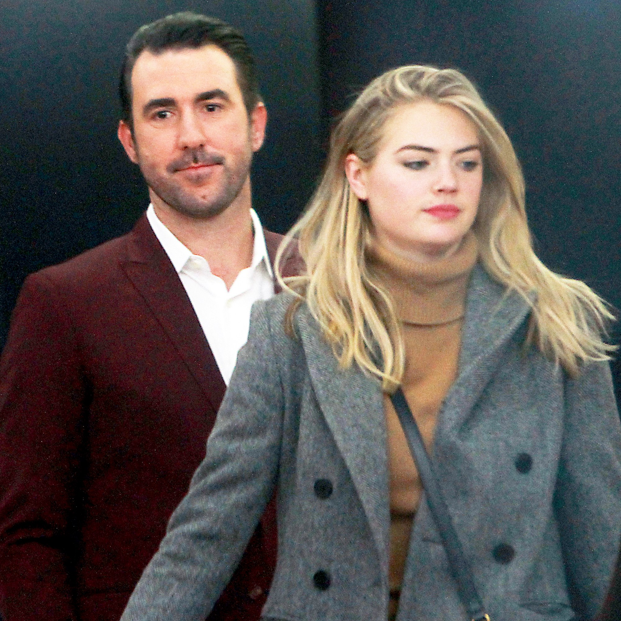 Justin Verlander and Kate Upton seen at NBC's Today Show on November 17, 2017 in New York City.