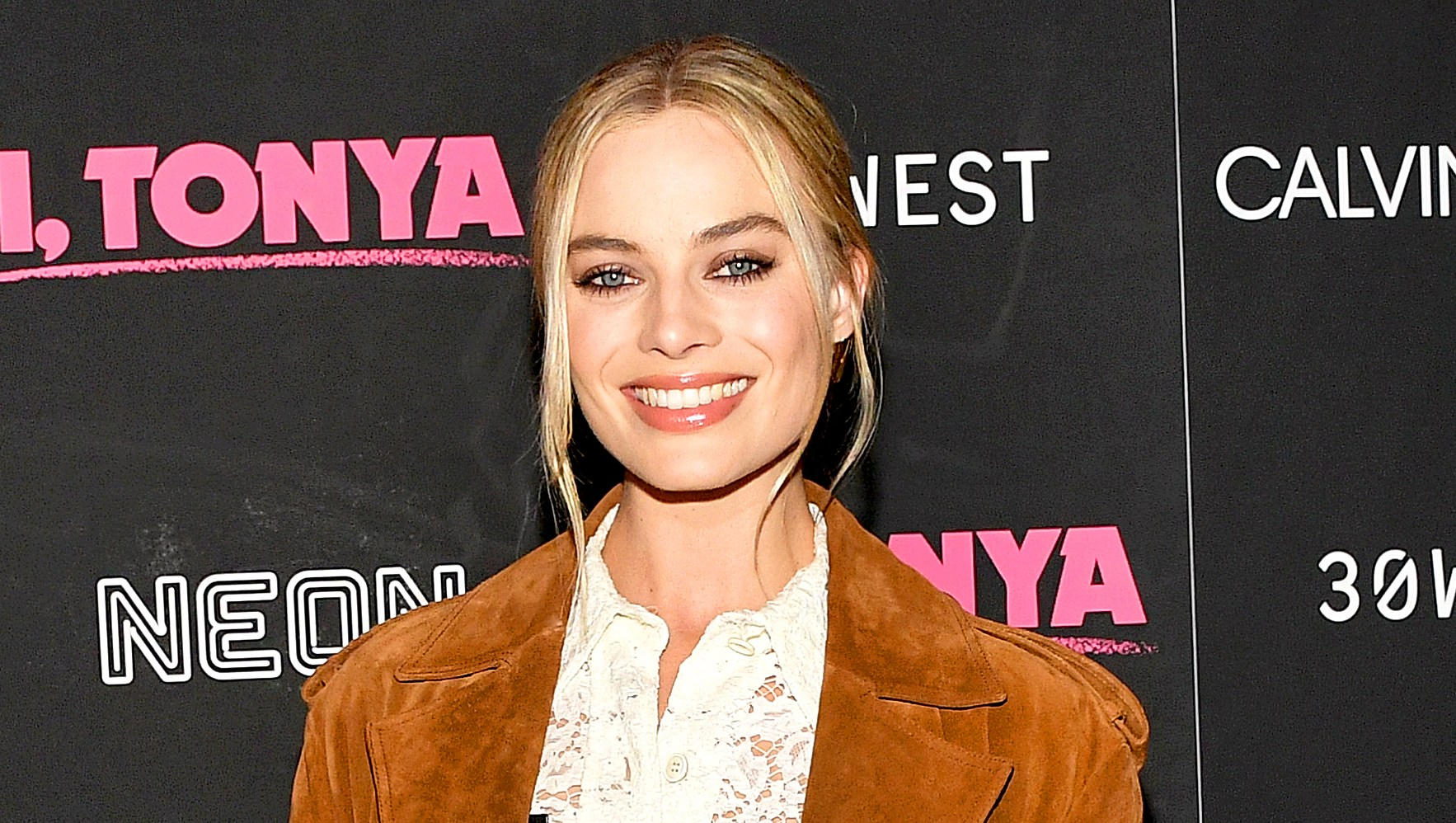 Margot Robbie attends the 'I, Tonya' New York Premiere at Village East Cinema on November 28, 2017 in New York City.