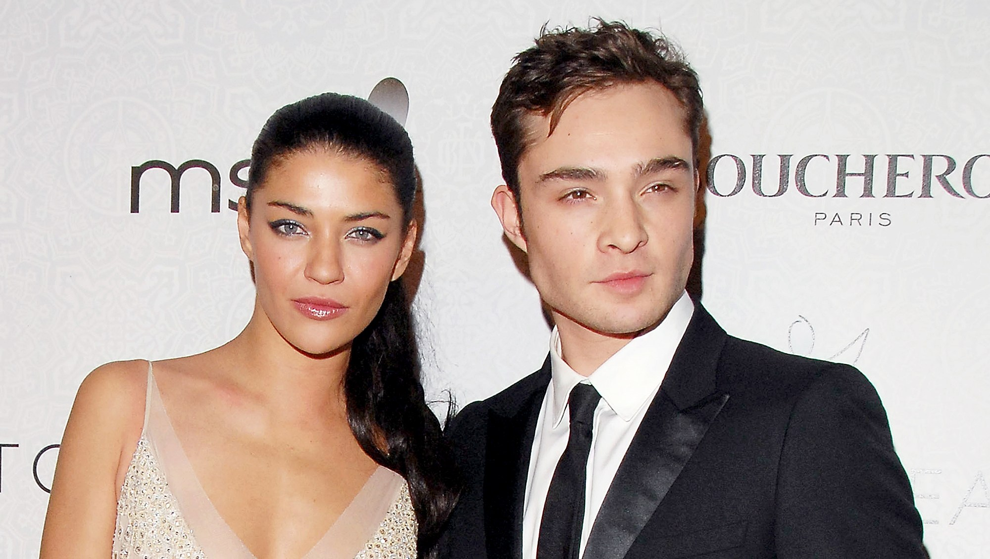 "Jessica Szohr and Ed Westwick arrive at The Art of Elysium's 3rd Annual Black-Tie Charity Gala ""Heaven"" at 9900 Wilshire Blvd in Beverly Hills, California."