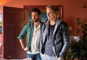 Tom Riley and Chris Geere as Charlie and Joel on 'Ill Behaviour'