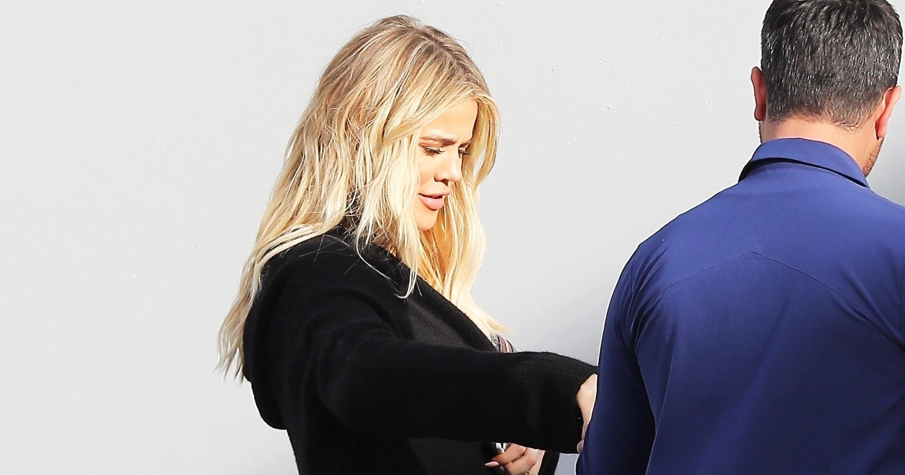 Pregnant Khloe Kardashian Covers Baby Bump in All Black