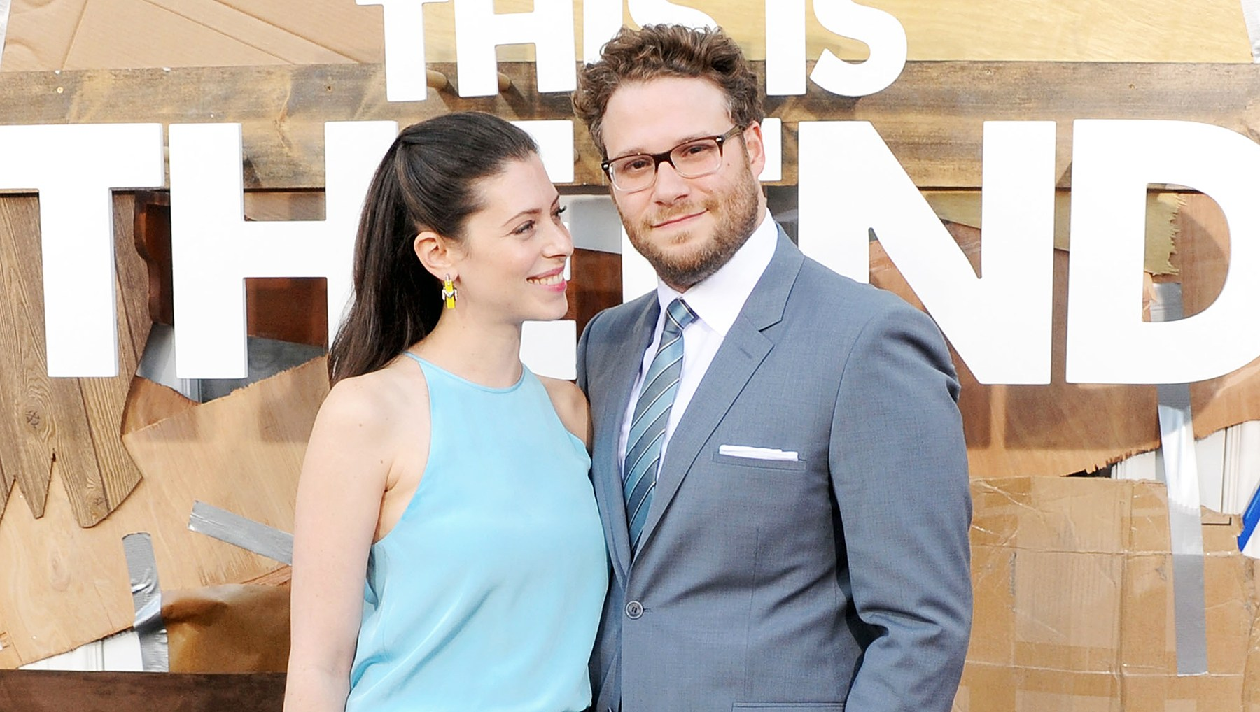 Seth Rogen Lauren Miller pimple cream