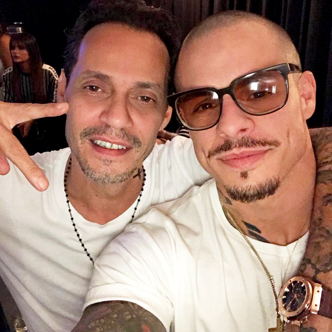 Marc Anthony and Casper Smart