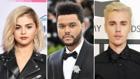 Selena Gomez The Weeknd Justin Bieber