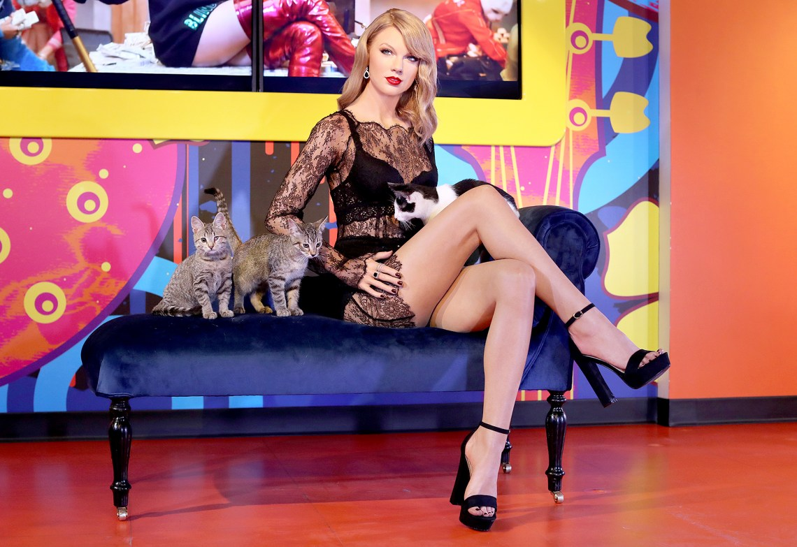 Taylor Swift's wax figure at Madame Tussauds San Francisco