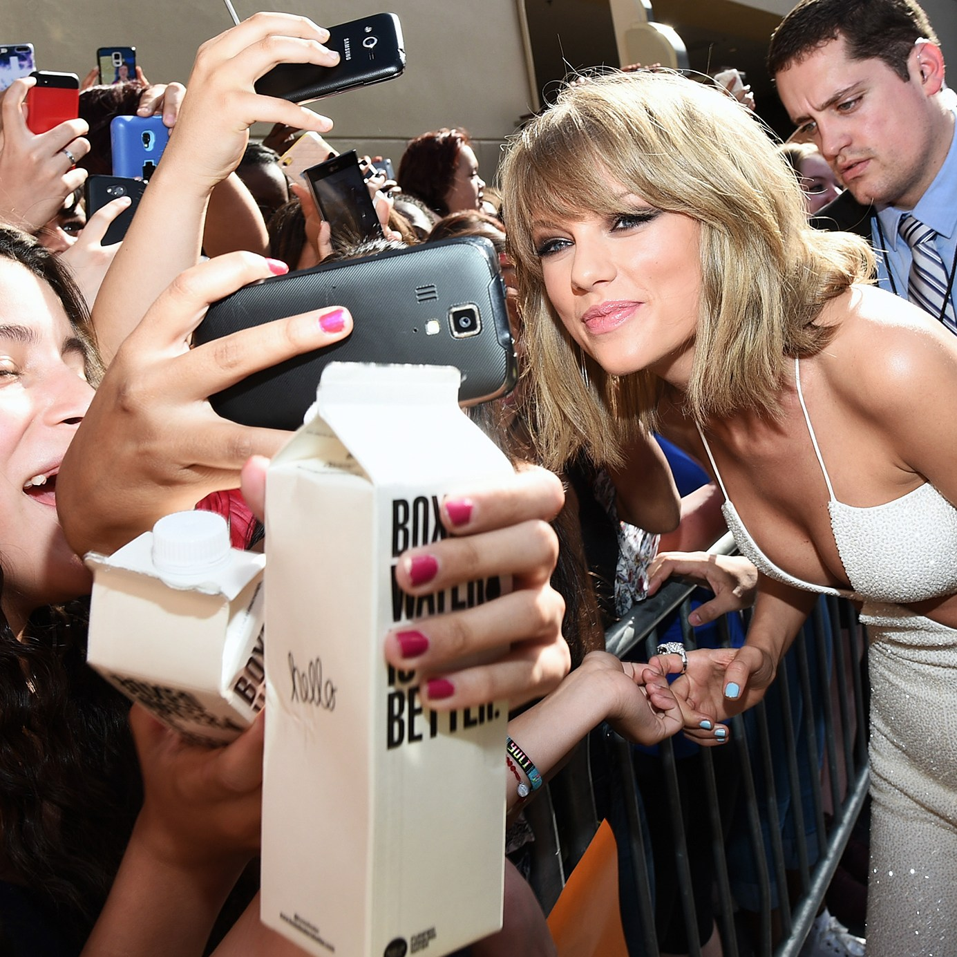 Taylor Swift selfies fans