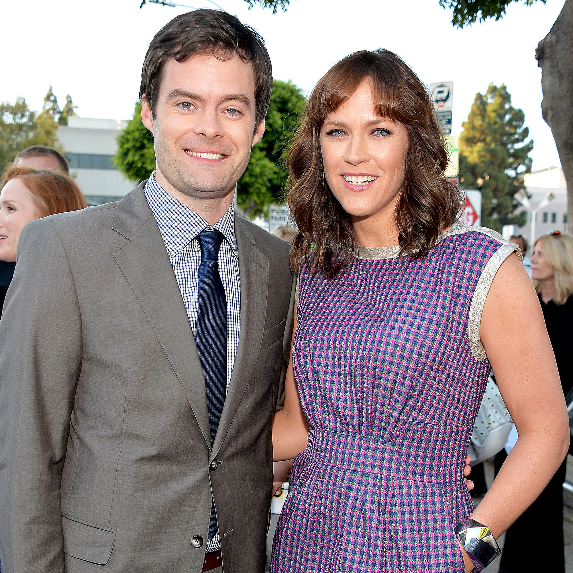 """Bill Hader and Maggie Carey attend the premiere of CBS Films' """"The To Do List"""" on July 23, 2013 in Westwood, California."""