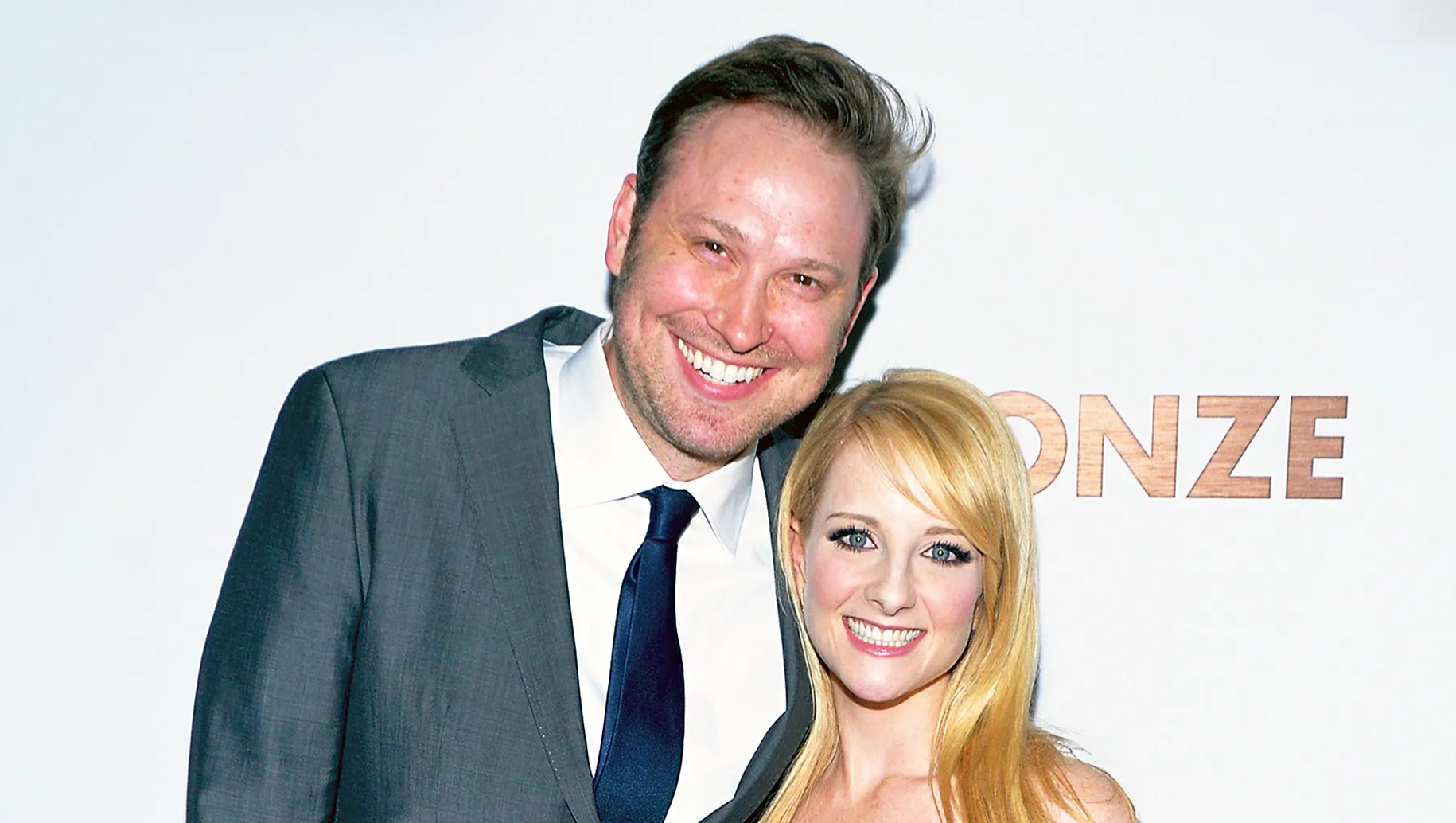 "Melissa Rauch and husband Winston attend the premiere of Sony Pictures Classics' ""The Bronze"" at the Regent Theater in Los Angeles, California."