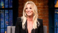 Kaley Cuoco during 'Late Night with Seth Meyers'