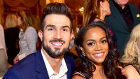 Bryan Abasolo and Rachel Lindsay attend the Dennis Basso Spring/Summer 2018 Runway Show during New York Fashion Week at The Plaza Hotel in New York City.