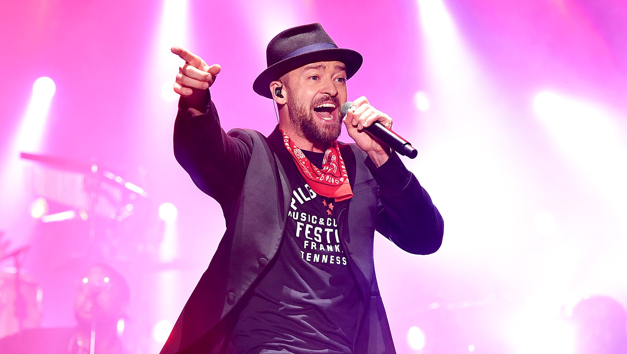 Justin Timberlake performs at the 2017 Pilgrimage Music & Cultural Festival in Franklin, Tennessee.
