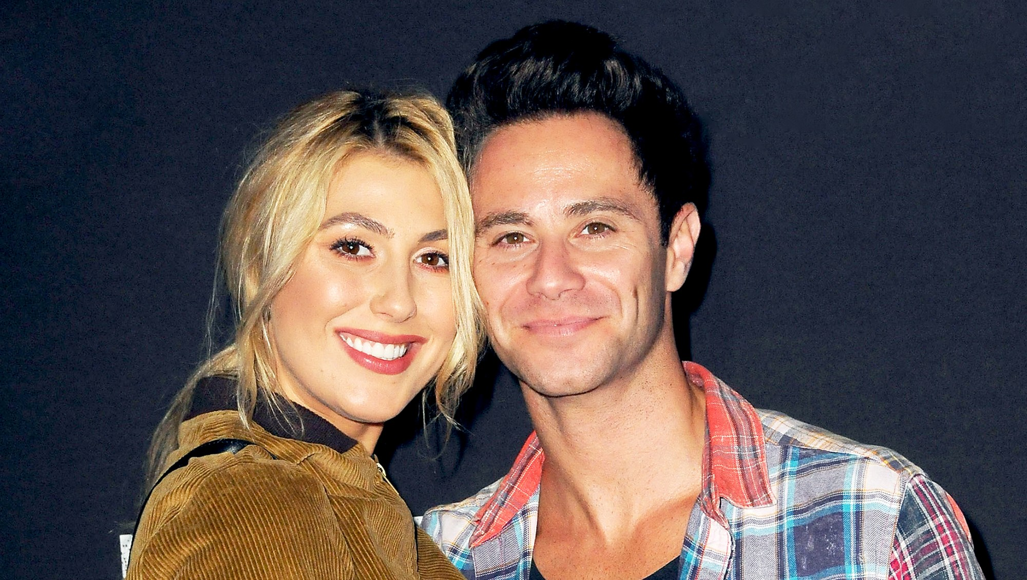 Emma Slater and Sasha Farber attend Knott's Scary Farm and Instagram Celebrity Night at Knott's Berry Farm in Buena Park, California.
