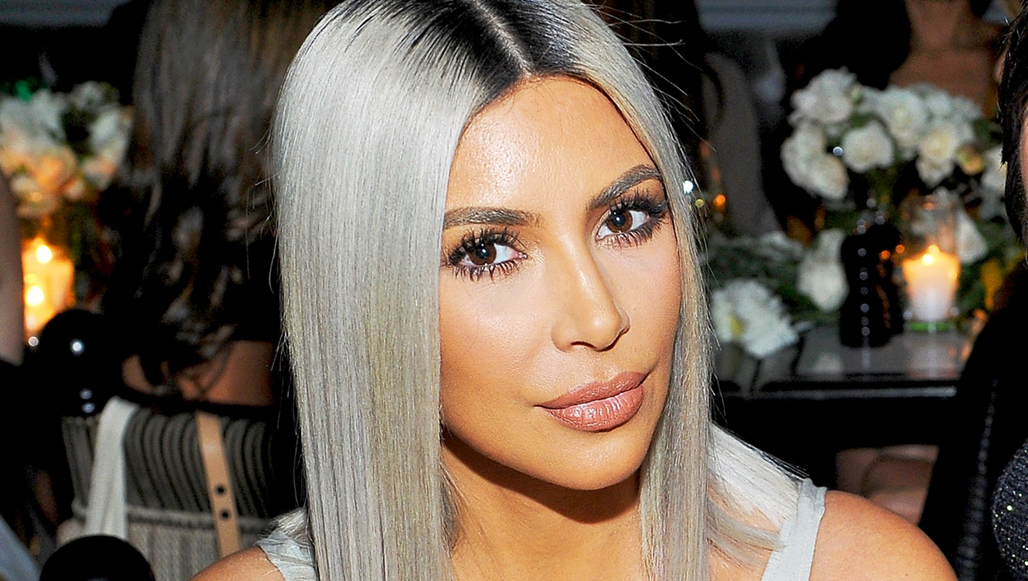 Kim Kardashian attend The Tot holiday pop-up celebration at Laduree at the Grove in Los Angeles, California.