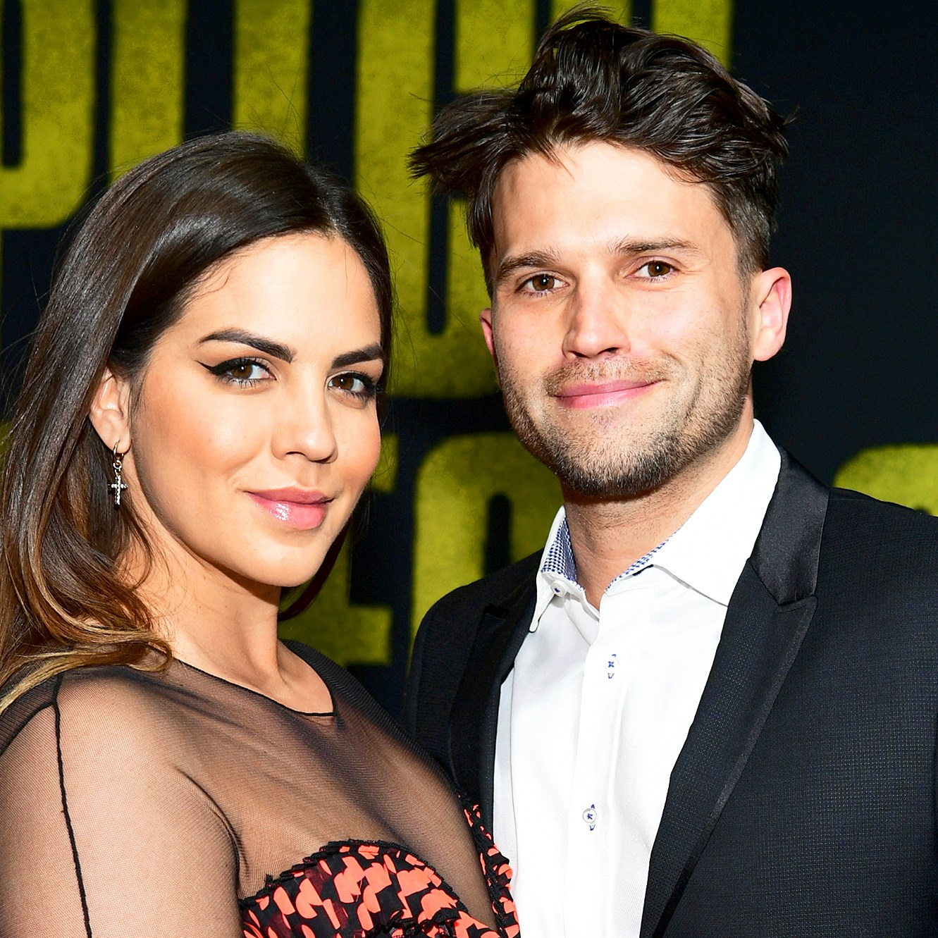 """Katie Maloney and Tom Schwartz attend the premiere of Universal Pictures' """"Pitch Perfect 3"""" at Dolby Theatre on December 12, 2017 in Hollywood, California."""