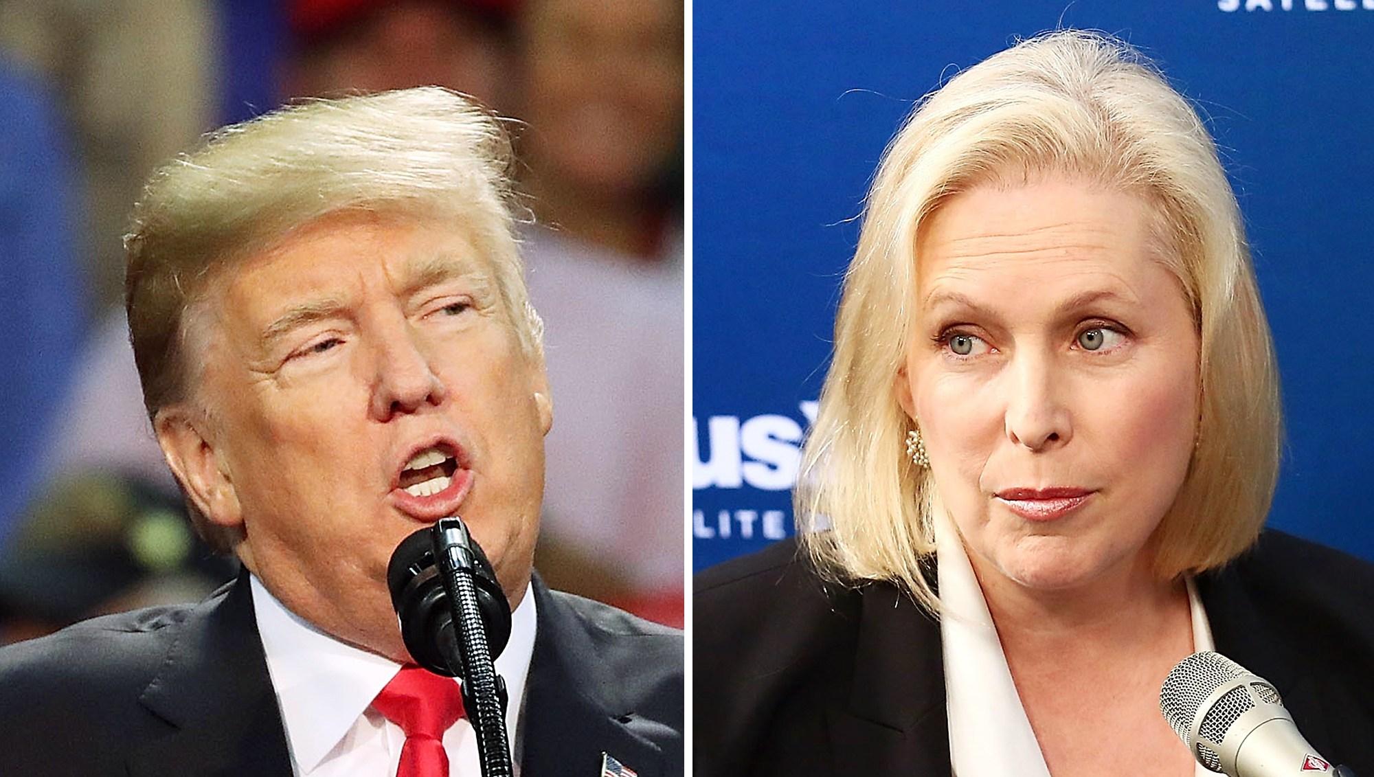 Donald Trump and Kirsten Gillibrand