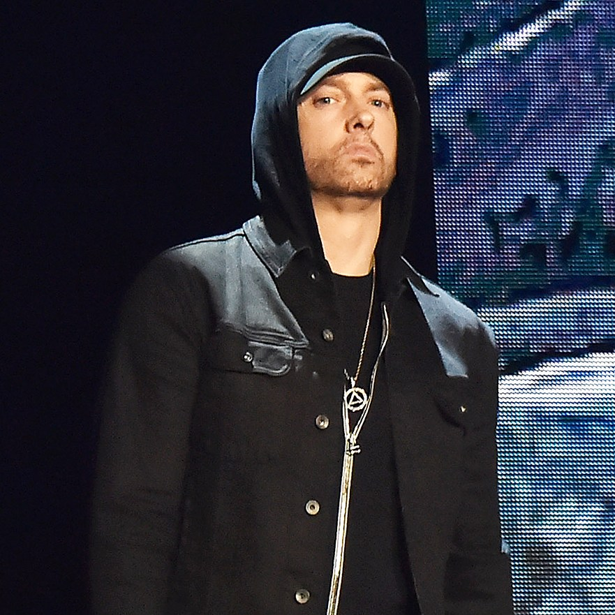 Eminem performs during the MTV EMAs 2017