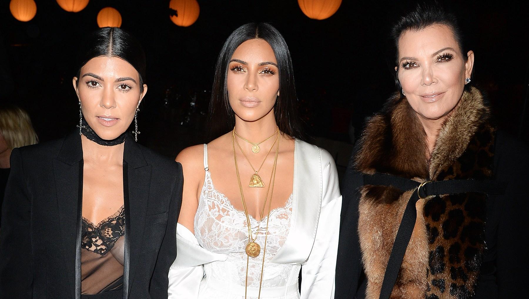 Kourtney Kardashian Kim Kardashian Kris Jenner