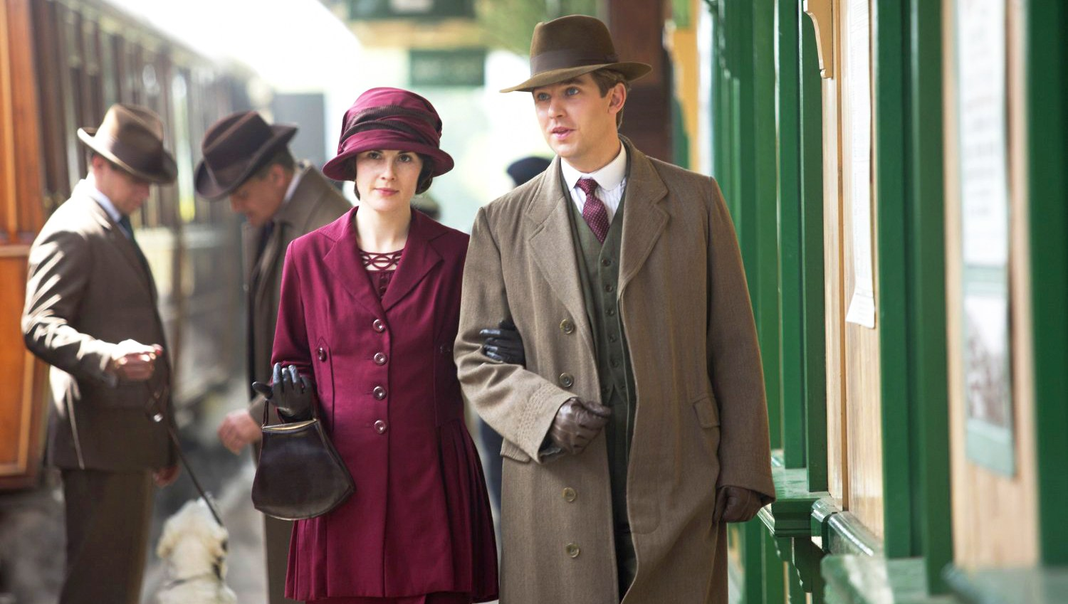 Michelle Dockery and Dan Stevens in 'Downton Abbey'
