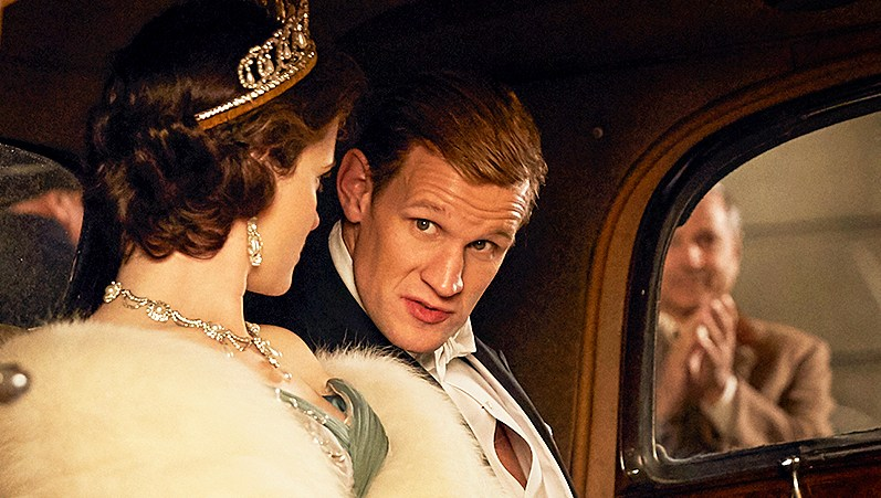 Claire Foy and Matt Smith in 'The Crown'