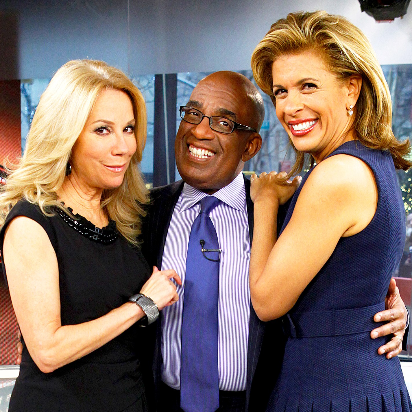 Kathie Lee Gifford, Al Roker and Hoda Kotb appear on NBC News' 'Today' show