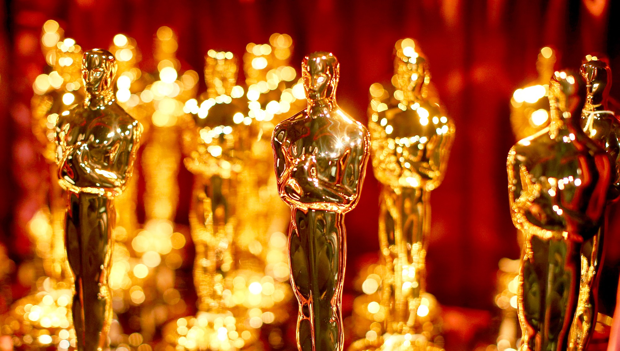 Oscar statuettes backstage during the 87th Annual Academy Awards at Dolby Theatre in Hollywood, California.