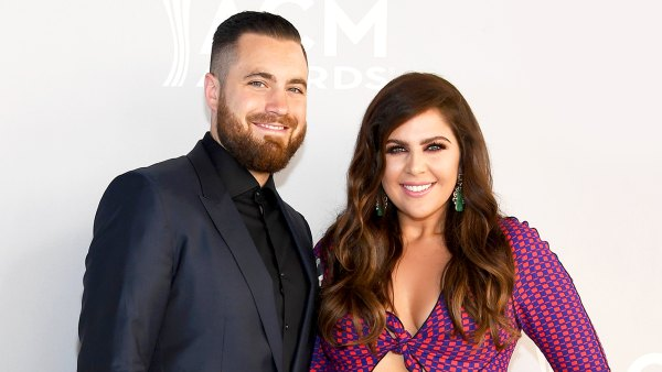 Hillary Scott and Chris Tyrrell attend the 52nd Academy of Country Music 2017 Awards at Toshiba Plaza in Las Vegas, Nevada.